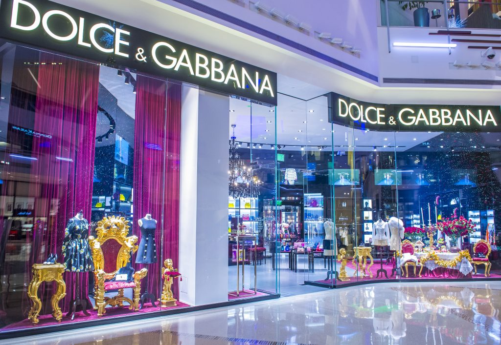 Dolce & Gabbana Store in a mall