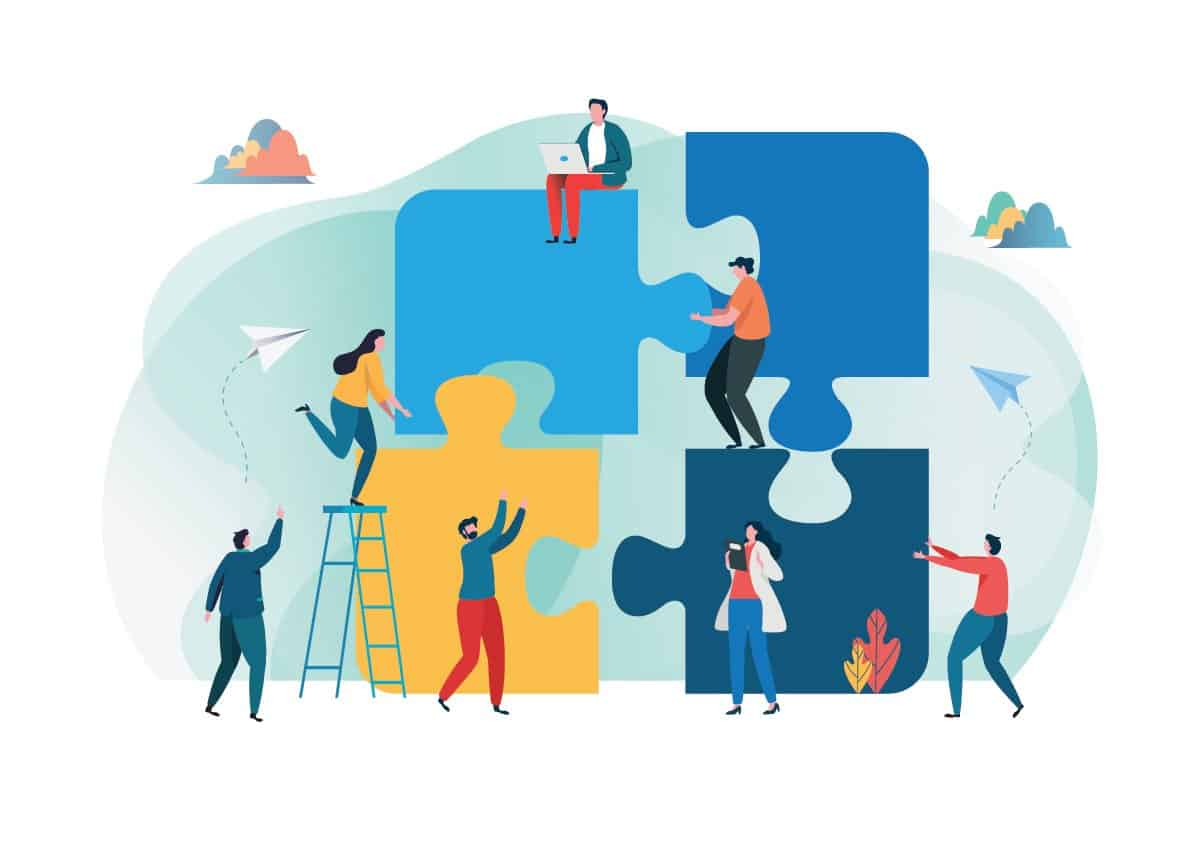 Illustration-team-working-together-to-deploy-project