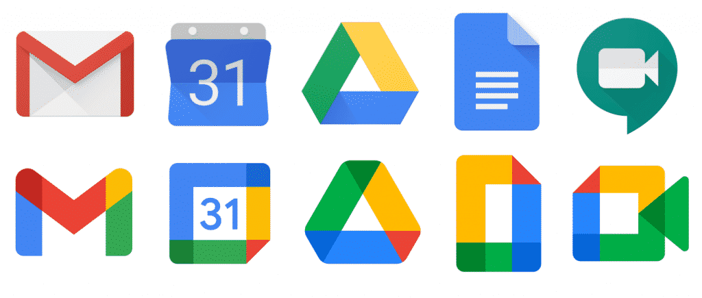 Google-Old-New-Logos